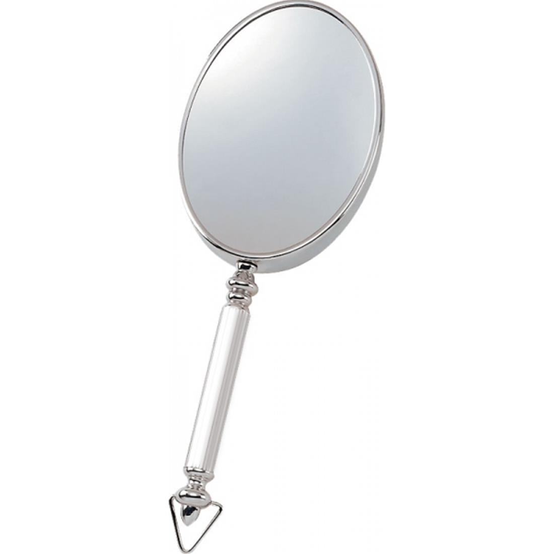 Specchio con manico e gancio mettallo lucido due lati - Specchio ingrandimento ...